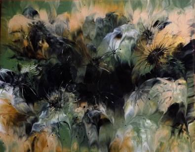"""""""Trou noir"""" - Acrylique - 40/50 -168 €"""