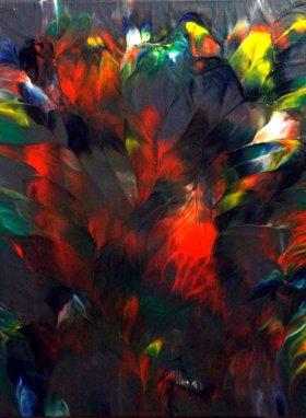 """""""Bouquet de plumes"""" - Acrylique 30/40 - 110€"""