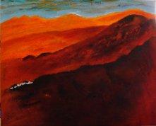 """""""Le Point d'eau""""-Acrylique et sable 40/50-253€"""