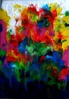 """""""Fleurs de stalactites"""" - Acrylique 38/55 - 140€"""