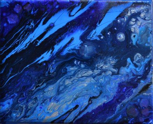 """""""Saphir"""" - Acrylique et huile 24/30 - 70€"""