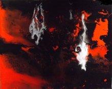 """Volcan"" - Acrylique 24/30 - 70€"