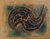"""""""Nautilus"""" - Acrylique et huile sur modeling paste 40/50 - 210€"""