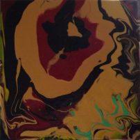 """""""De rouge et d'or""""-Acrylique-40/40-165€."""