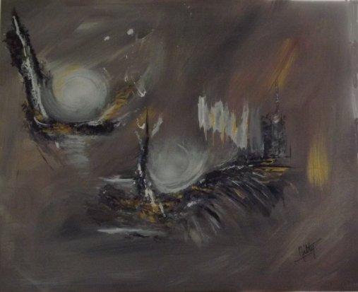 """""""Dans l'oeil du cyclone""""-Acrylique 50/60-290€"""