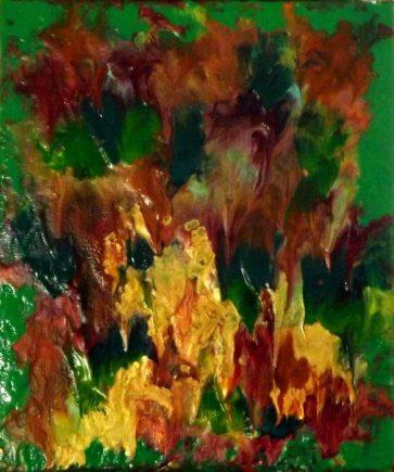 """""""Aux couleurs de l'automne""""-Acrylique et encres 25/30-90€"""