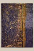 """Golden Dream""-Acrylique,encres,mortier,sable,cire 50/70-330€"