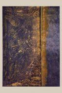 """Golden Dream""-Acrylique,encres,mortier,sable,cire 50/70-330€"