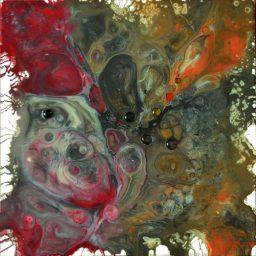 """""""Amphitrite""""-résine & pigments-50/50-310€"""